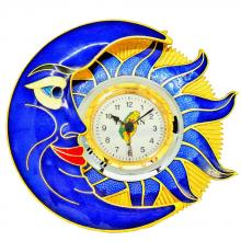 table clock | alarm clock | cloisonne sun & moon table clock