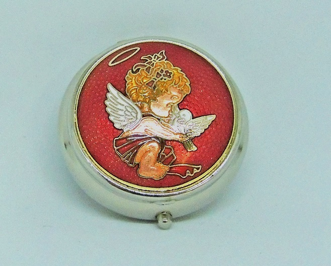 cloisonne small size round pill box