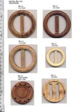 Wooden buckles for belts (#BK14-4)