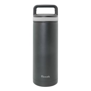 Stainless Steel Vacuum Sports Bottle Black 600ml