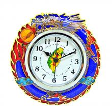 desk clock | alarm clock | cloisonne dragon desk clock