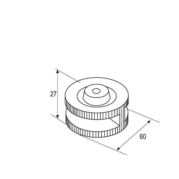 SS-1106 8mm,10mm Glass Clip-1